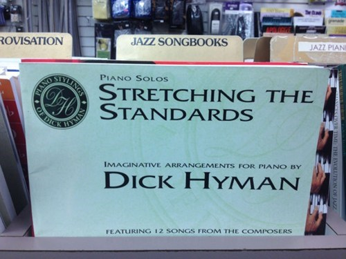 piano sheet music,jazz songbooks,dick hyman,jazz standards