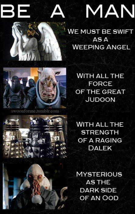 dalek,mulan,judoon,song,weeping angels,parody,doctor who,ood,be a man