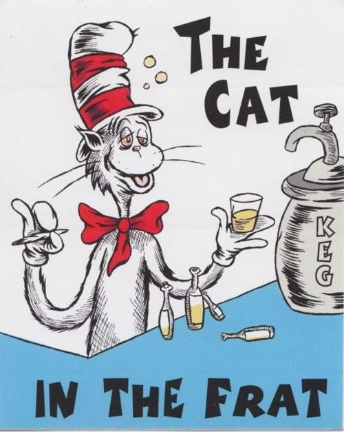 the cat in the hat dr seuss frat college years - 6788469248