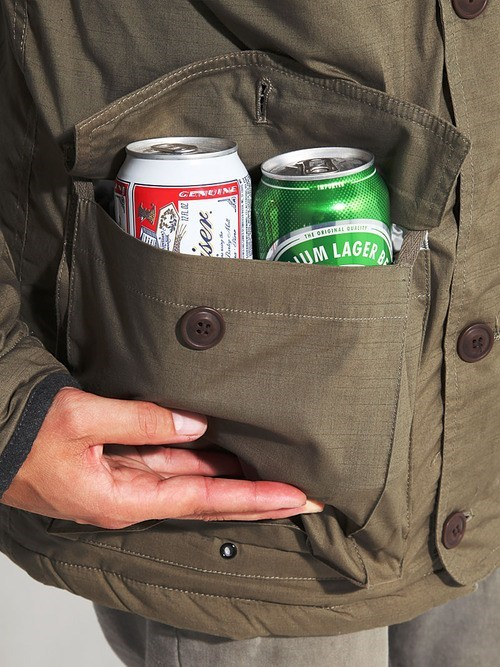 smuggling beer sloshed swag jacket thrillist pockets