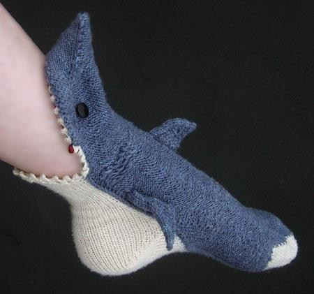 socks,knits,shark
