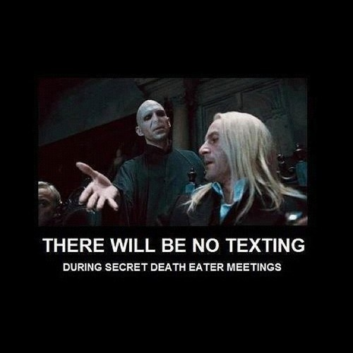 disturbing the class,Harry Potter,voldemort,texting