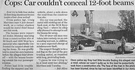 heist Criminally Dumb Criminal crafty newspaper - 6788822784