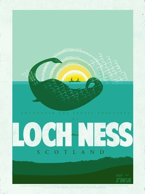 loch ness monster,Cryptozoology,poster,Travel,Hall of Fame,best of week