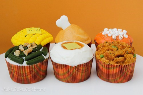 thanksgiving Turkey cupcakes dessert food - 6788834816