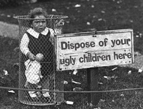 kids disposal ugly children classic