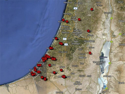 guardian map gaza crowdsourcing conflict
