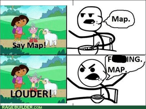 cereal guy map cartoons dora the explorer - 6789103360