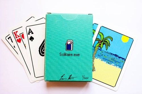 solitaire old school cards 8 bit playing cards computer game - 6789136128