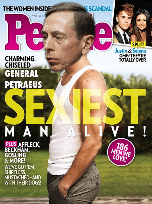 people magazine,David Petraeus,magazine cover,photoshop,Sexiest Man Alive