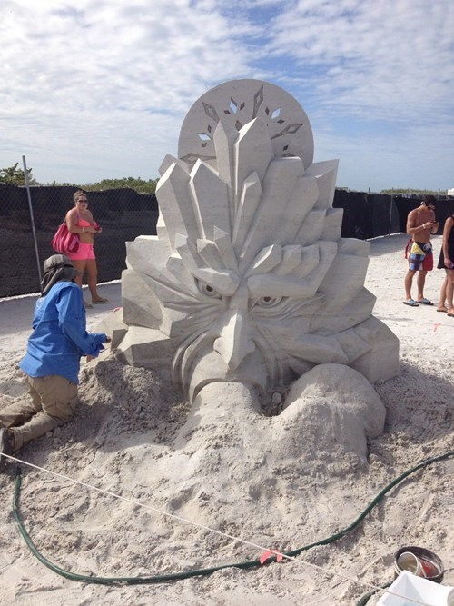 sand sculpture winter jack frost - 6789278720