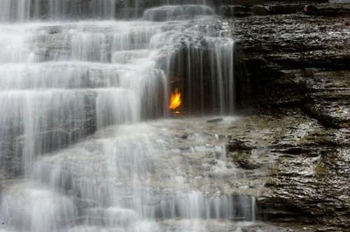 landscape new york falls eternal flame