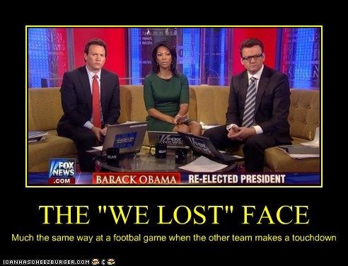 "THE ""WE LOST"" FACE Much the same way at a footbal game when the other team makes a touchdown"