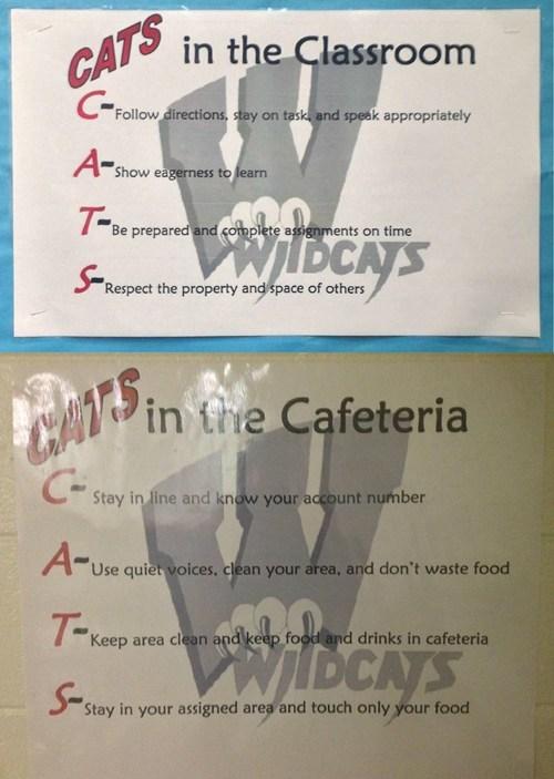 sign school whoops acronym wildcat - 6789578240