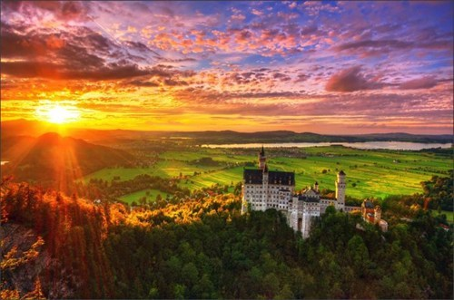 europe castle hills magical sunset - 6789681152
