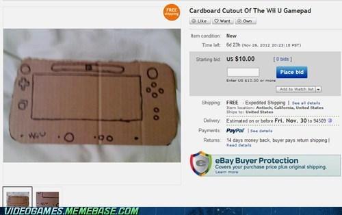 gamepad wii U cardboard cutout nintendo ebay - 6789783808