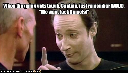 brent spiner want jack daniels Captain Picard the next generation data Star Trek patrick stewart - 6790908672