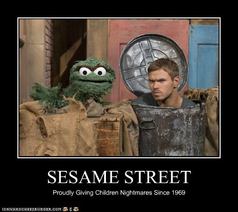 oscar the grouch actor Kellan Lutz TV Sesame Street demotivational funny - 6791442176