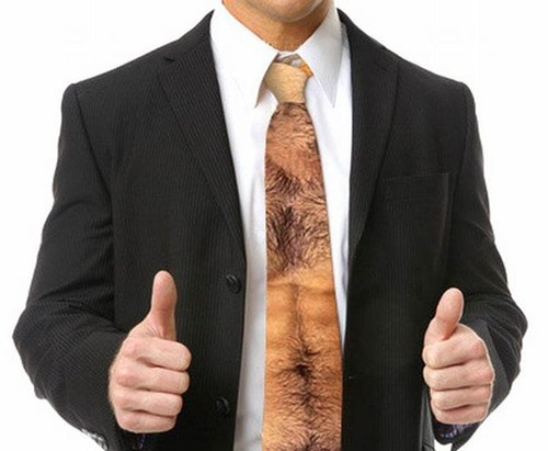 necktie bare chest - 6791661056