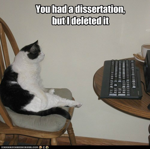 You had a dissertation, but I deleted it