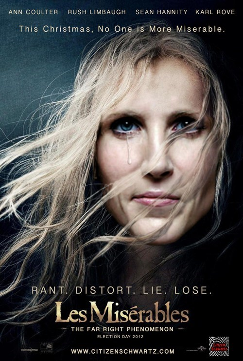 Sad miserable movie poster Ann Coulter Les Misérables - 6791748864
