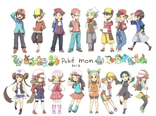 Pokémon art cute trainers - 6791764224