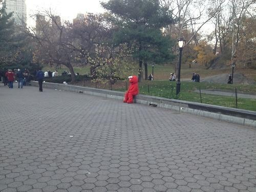 Sad,costume,park,emo,elmo