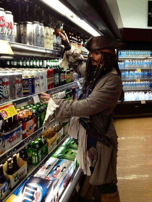 why is the rum gone beer alcohol jack sparrow Rum Johnny Depp
