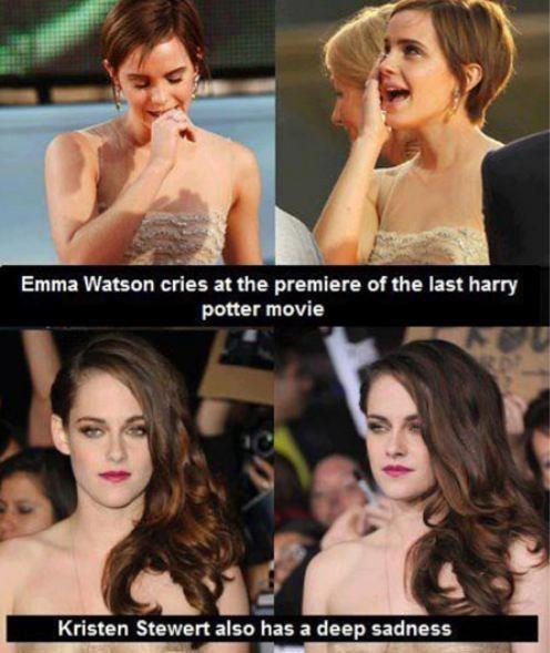 kristen stewart Harry Potter actor twilight funny emma watson - 6792059392