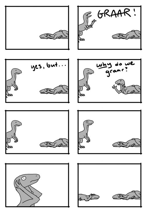 crisis,confusion,anguish,existential crisis,sound effect,existentialism,dinosaurs
