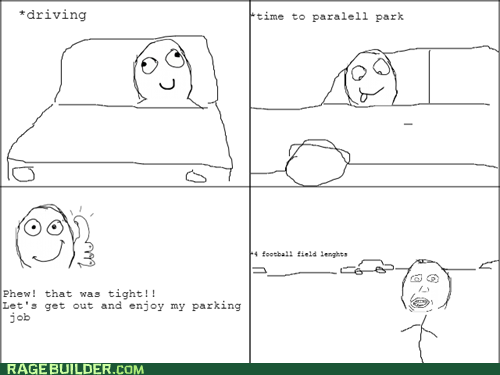herp derp,driving,parallel parking,thumbs up