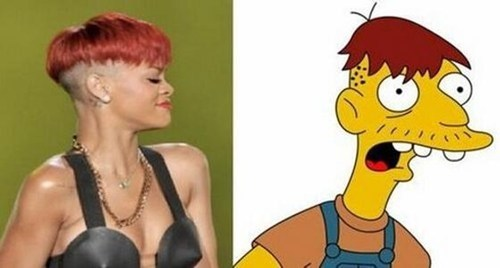 rihanna,the simpsons,cleatus