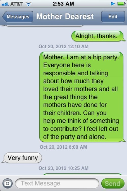 mother text Party iphone