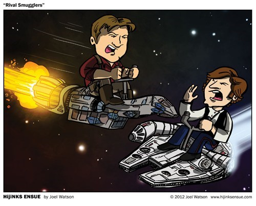 star wars,serenity,rivals,Firefly,Han Solo,millennium falcon,captain malcolm reynolds