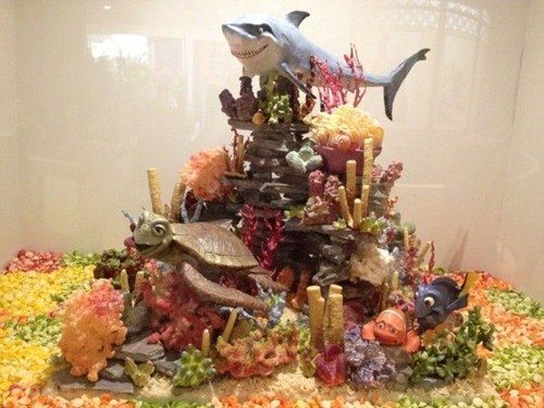art sculpture pixar finding nemo chocolate - 6792583424