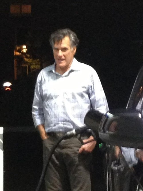 car,gas,Mitt Romney,Awkward