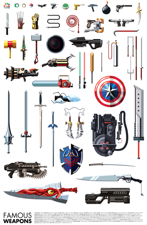 comics movies Fan Art TV superheroes video games weapons - 6792673024