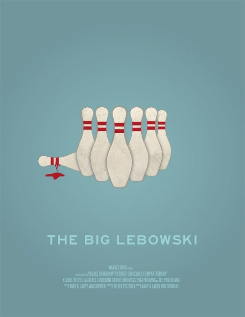 minimalist,art,poster,the big lebowski,Movie