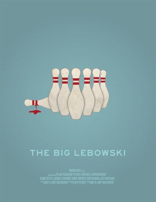 minimalist art poster the big lebowski Movie - 6792679936