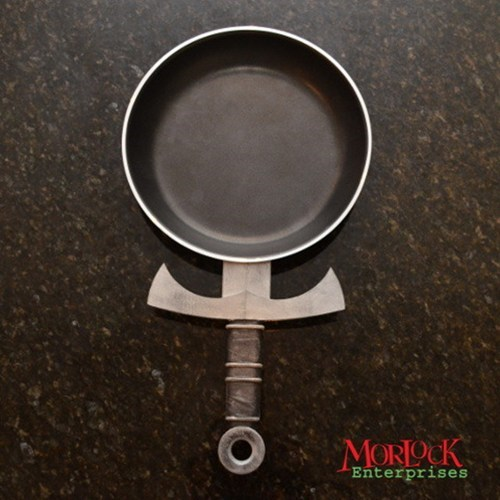 cooking design nerdgasm swords skillet food