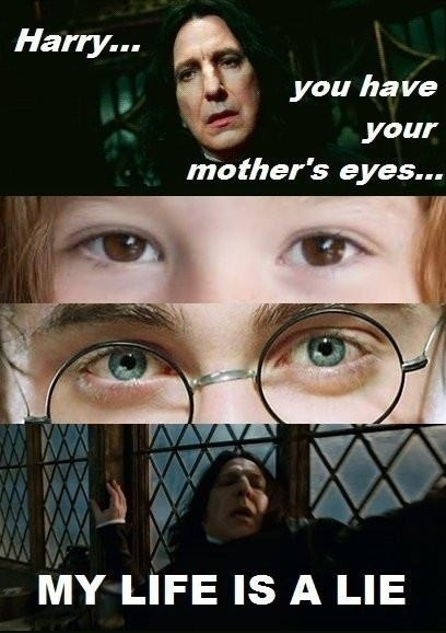 Harry Potter lies Movie eyes snape - 6792732672