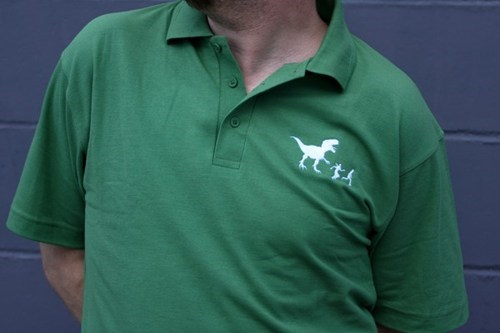 polo shirt,dinosaurs