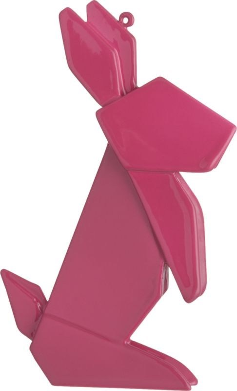 christmas ceramic origami decoration plastic ornament rabbit bunny - 6792848896
