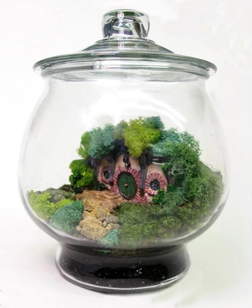 door hobbiton terrarium middle earth The Shire hobbit - 6792854272