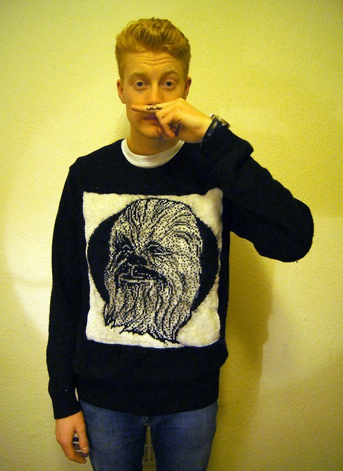 star wars chewbacca sweater Knitted - 6792932864