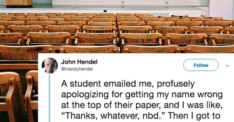 student accidentally calls professor by a funny name