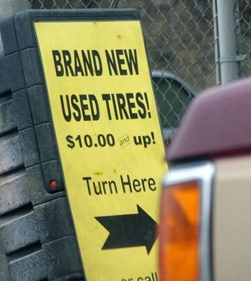 used,paradox,for sale,what,tires,irony