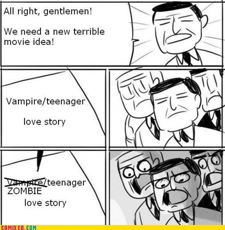 zombie,movies,love story,vampires,twilight,all right gentlemen