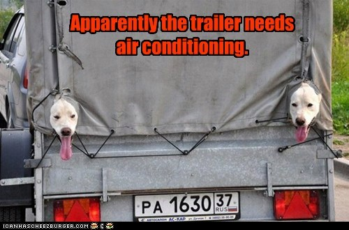 Apparently the trailer needs air conditioning.