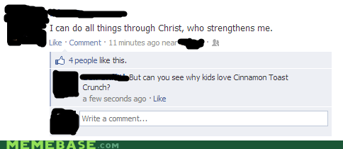jesus cinnamon toast crunch facebook - 6793614080